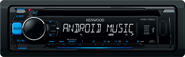 Kenwood KDC-100UB CD-ресивер FM/USB подсв.синий