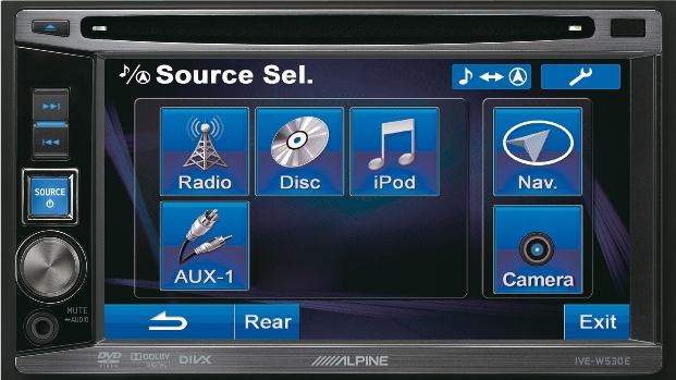 "2DIN Alpine IVE-W530 монитор 6.1"" DVD/USB"