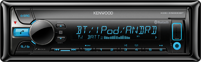 Kenwood KDC-X5000BT CD-рессивер CD/MP3/BT/USB